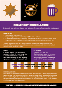 Flyer Zomerleague 2019 back