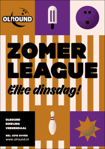 Flyer Zomerleague 2019 front